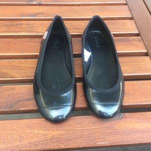 NEW Hunter Original Ballet Flats Black 5